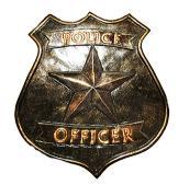 Police Concrete Badge Mold  9 x 1