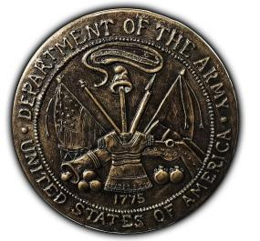 United States Army Wall plaque Concrete Mold 8 x 1