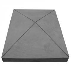 Pier cap pyramid rectangle 16 x 21 x 4 - Dm Concrete Pier Cap Mold